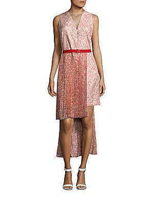 Cotton Blend Printed Dress