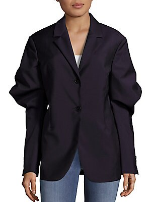 Solid Two-Button Jacket