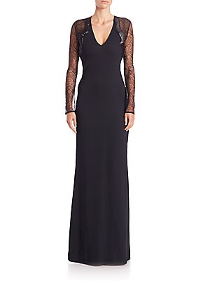 Lace-Detail Gown