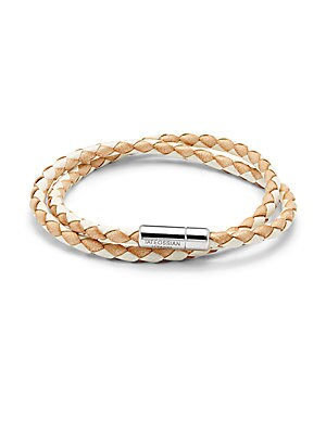 Sterling Silver & Leather Bracelet