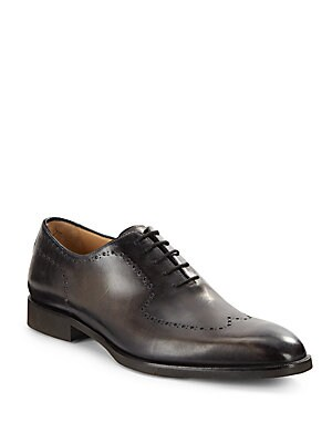 Bologna Wingtip Toe Leather Oxfords