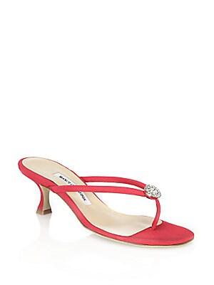 Dole Crystal-Embellished Sandals