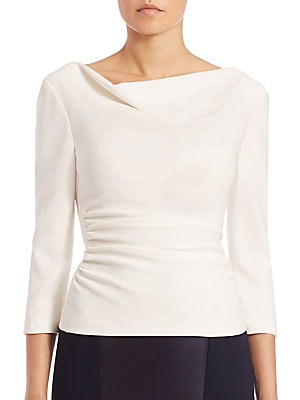 Ruched Draped-Detail Top
