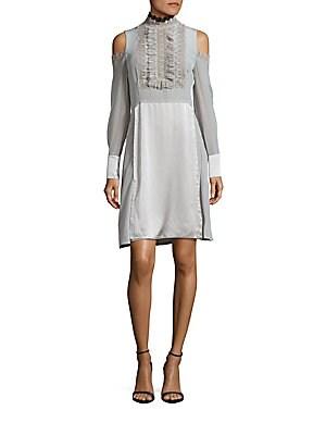 Silk Long Sleeve Dress