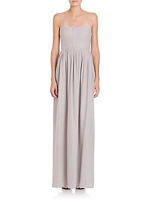 Bayou Strapless Silk Maxi Dress
