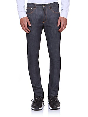 Raw Straight-Leg Jeans