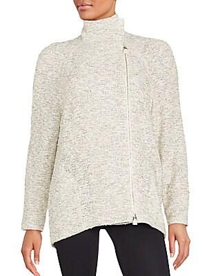 Cotton Blend Textured Jacket