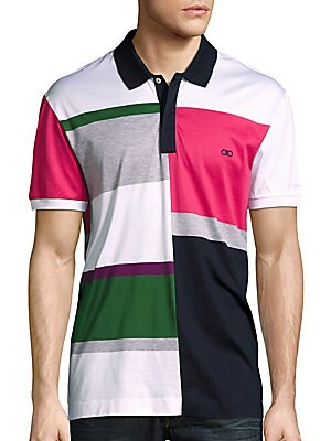 Colorblock Cotton Polo