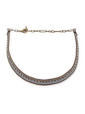 Brass and Leather Choker