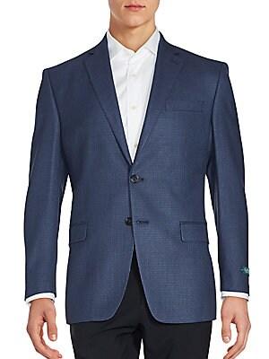 Checkered Wool & Silk Jacket