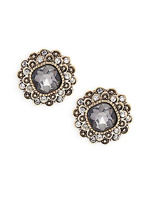 Crystal Embellished Stud Earrings