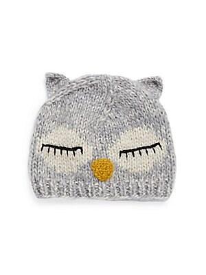 Knit Sleeping Owl Beanie