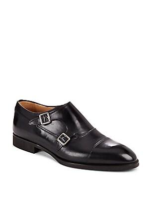 Italian Leather Cap Toe Loafers