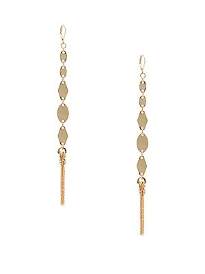14K Gold-Plated Chain Earrings