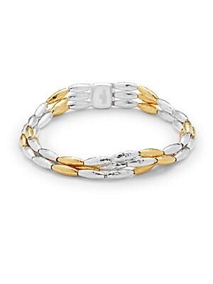 Sterling Silver & 24K Gold Vermeil Bracelet