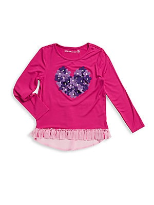 Little Girl's Floral Embroidery Top