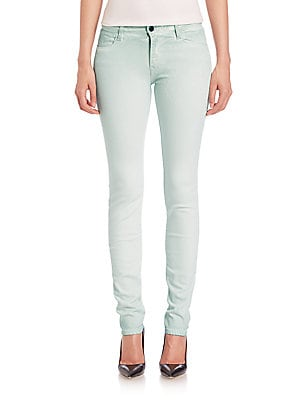 Alveole Map Rosace Embroidered Skinny Jeans