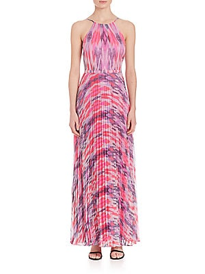 Printed Halter Gown