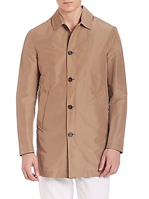 Short Cotton Raincoat