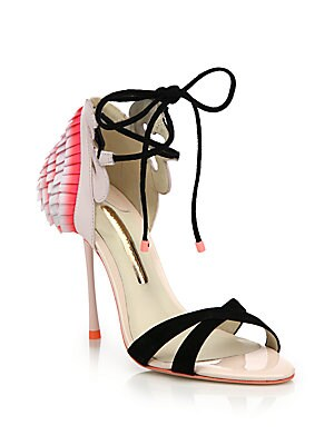 Flamingo Frill Ankle-Wrap Sandals