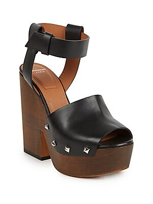 Sofia Leather Clog Sandals