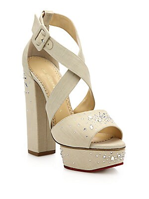 Edna Embellished Platform Sandals