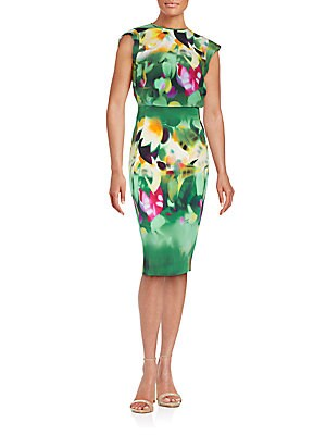 Floral Crewneck Dress