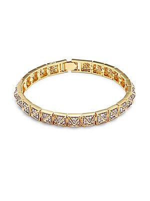 Crystal & 18K Gold-Plated Bracelet