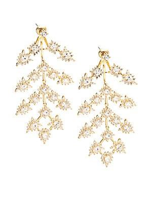 Bristol Cubic Zirconia & 18K Gold-Plated Chandelier Earrings