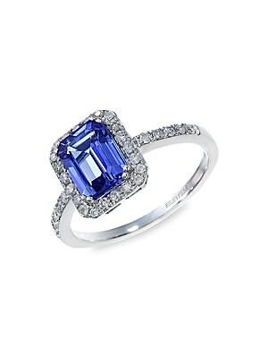 Click here for Tanzanite  Diamond & 14K White Gold Ring prices