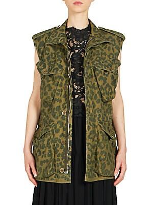 Leopard-Print Cargo Vest