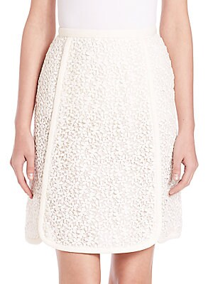 Paneled Lace Skirt