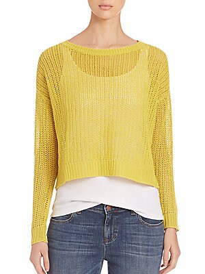 Fishermans Organic Linen Cropped Sweater