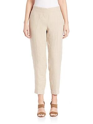 Linen Ankle Pants