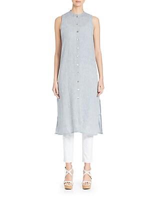 Yarn-Dyed Chambray Shirtdress