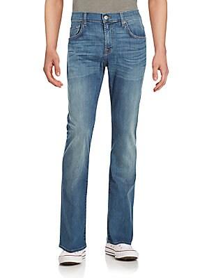 Cotton-Blend Five Pocket Jeans