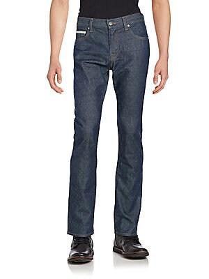 Split Slim-Fit Jeans