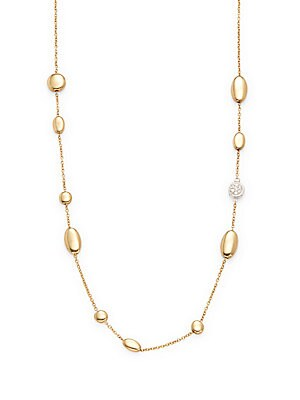 Dia 18K Yellow Gold Necklace