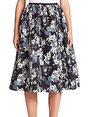 Sofia Matelassé Floral Skirt