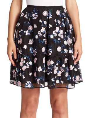 Levia Floral Flounce Mini Skirt Erdem