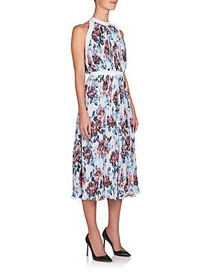 Latrue Floral-Print Midi Dress