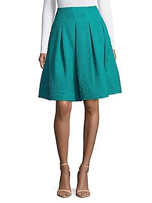 Back Zip Textured Skirt