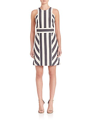 Maya Graphic-Stripe Dress