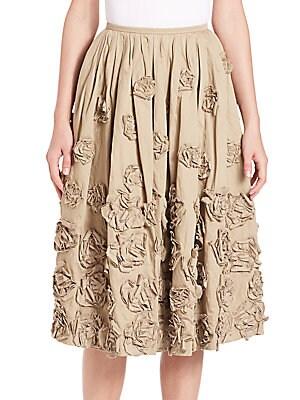 Embellished Cotton Skirt