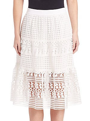 Tiana Floral-Lace Skirt