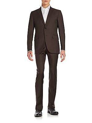 Torino Textured Wool-Blend Suit
