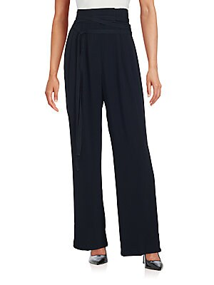 marc jacobs female 188971 solid wide leg trousers