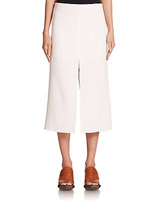 Crepe Slit Skirt