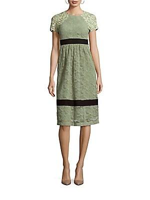 Lace & Mesh Short Sleeve Dress