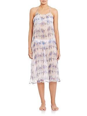 Venice Beach Printed Silk Dress